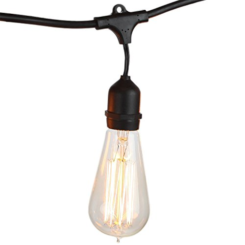 Brightech ambience pro vintage edition outdoor weatherproof commer brightech ambience pro vintage edition outdoor weatherproof commercial grade string lights weathertite technology 15 edison bulbs included 40 aloadofball Images